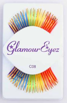 Rainbow Gold Glamour Eyez Eyelashes