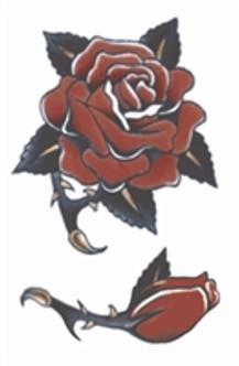 Rose Vintage Tat Temporary Tattoos