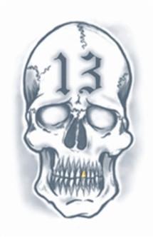 Skull 13 Tat Temporary Tattoos