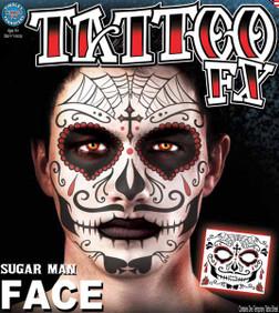 Sugar Man Face Tattoo Temporary Tattoos