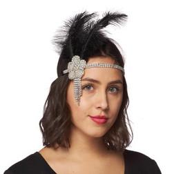 20s Fower Burst Flapper Headband