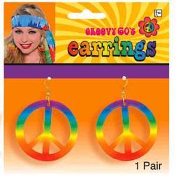 Rainbow Peace Earrings - At The Costume Shoppe