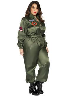 Plus Top Gun Parachute Flight Suit - At The Costume Shoppe