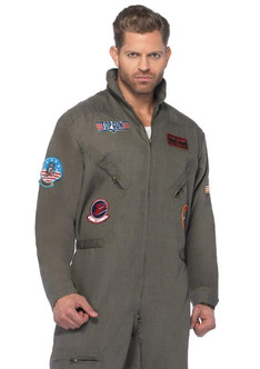 Plus Top Gun Flight Suit - At The Costume Shoppe