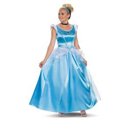 Classic Cinderella Deluxe Blue Ball Gown Costume