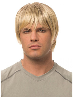 Natural Blonde Men's Classic Short Wig - At The Costume Shoppe