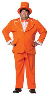Plus Dumb and Dumber Orange Tuxedo Costume - At The Costume Shoppe