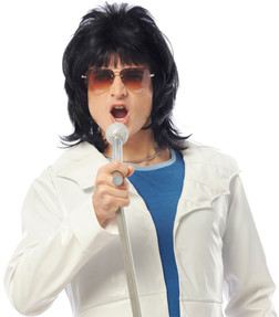 Bohemian Will Rock You Black Wig - At The Costume Shoppe