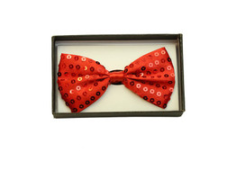 Bowtie In A Box Sequin Red at the Costume Shoppe