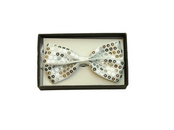Bowtie In A Box Sequin White at the Costume Shoppe