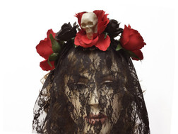 Day of Dead Veil BLK/Red