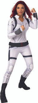 Adult Black Widow Dlx (White Suit) costumeat the Costume Shoppe