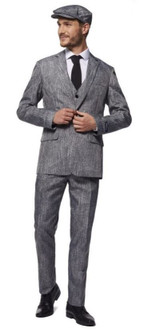 Adult Plus 20'S Gangster/Grey costume