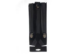 Suspenders Black White