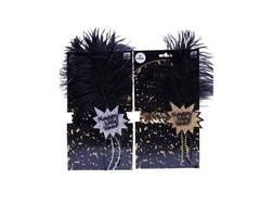 Happy New Year Flapper Headband Goldat the Costume Shoppe