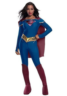 Adult SuperGirl Jumpsuit Costume at the Costume Shoppe