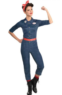 Adult Rosie The Riveter Costume at the Costume Shoppe