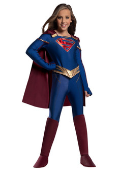 Childerns Supergirl Jumpsuit Costume at the Costume Shoppe