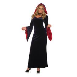 Adult Gothica  Velvet Hooded Costumeat the costume shoppe