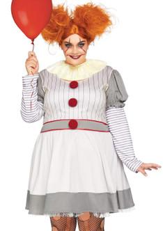 Adult Plus Size Creepy Clown Costumeat the costume shoppe