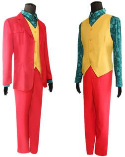 Teen Size Joker Carnival the Sad Clown 4 Piece Costume Set