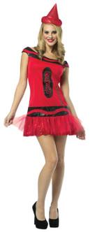 Adult Crayola Glitter Crayon Costume - Red