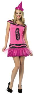 Adult Crayola Glitter Crayon Costume - Pink