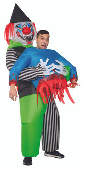 Adult Pick me up Evil Clown Inflatable Costume
