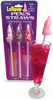 Bachelorette Party Candy Penis Straws - At The Costume Shoppe