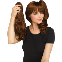 Auburn 3-in-1 Ponytail & Wig Set - At The Costume Shoppe