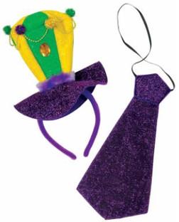 Mardi Gras Headband Necktie