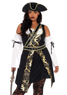 Adult Black Sea Buccaneer 4PC Costume at the Costume Shoppe