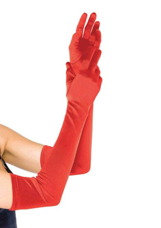 Extra Long Red Gloves