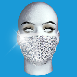 Silver On White Mask