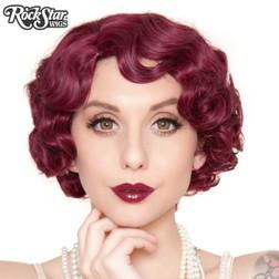Rockstar - 1920s Flapper Burgundy Wig