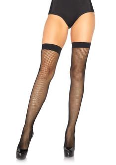 Nylon Fishnet Stockings - Black at the Costume Shoppe