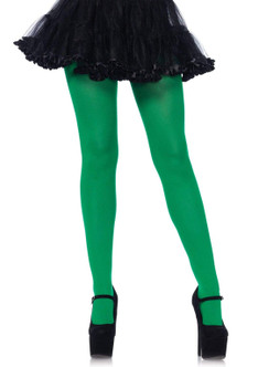 Plus Size Nylon Spandex Tights - Kelly Green at the Costume Shoppe