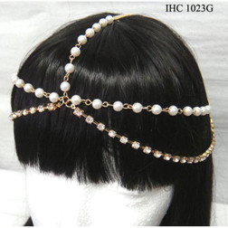 Gold Head  Chain With Pearls