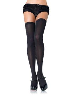 Plus Size Nylon Thigh Highs- Black