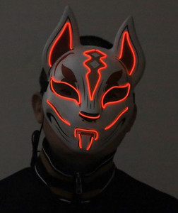 Fox Red LED Light-up Drift Mask