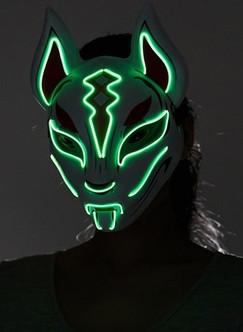 Fox Green LED Light-up Drift Mask