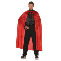 Red Velvet Cape with Collar