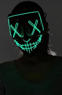 Green Neon Light Up Purge Mask
