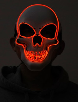 Red Skull Neon Light Up Purge Mask