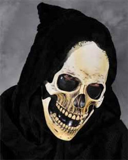 Hooded Grim Skull- Adult Size