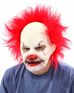 Carnival Creep Clown Mask- Adult Size