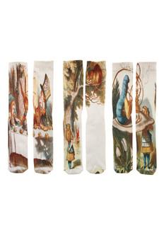 Alice in Wonderland 3-Pack Crew Sock