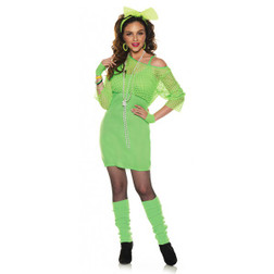 Totally 80's Neon Green Dress