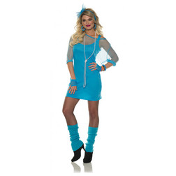 Totally 80's Neon Blue Dress