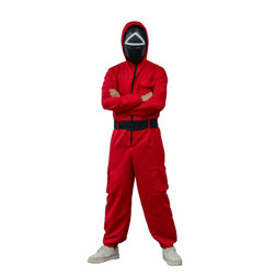Teens The Squad Triangle Team Member Jumpsuit and Mask